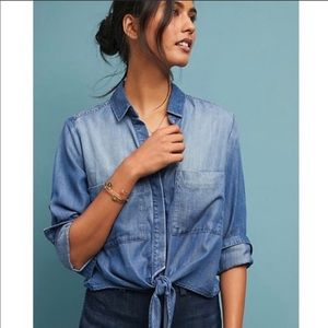CLOTH & STONE | Tie Front Button Down Top X-Small